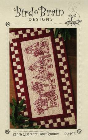 Embroidery CD Santa Quartet! Table Runner
