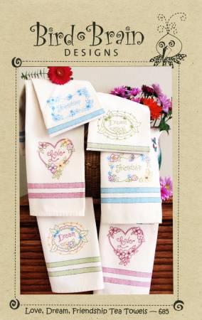 Love, Dream, Friendship Tea Towels