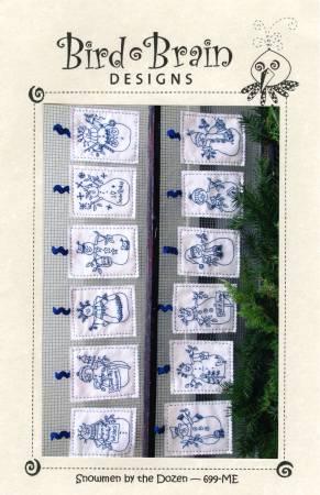 CD Snowmen by the Dozen Machine Embroidery