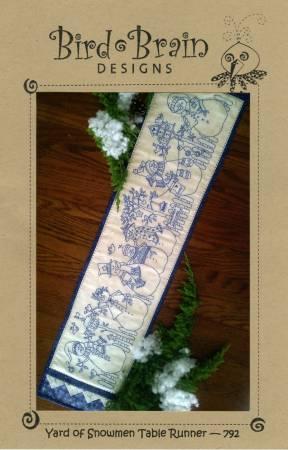 Yard of Snowmen Table Runner
