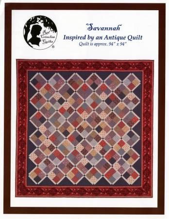 Savannah Quilt Pattern by Red Crinoline Quilts - 792273853666 : savannah quilt pattern - Adamdwight.com