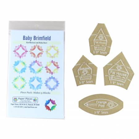 Baby Brimfield Paper Piece Pack and 4 pc Acrylics with 3/8in Seam Allowance