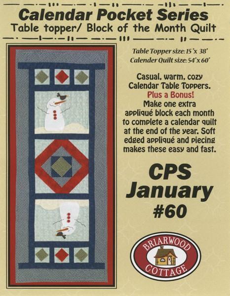 Calendar Pocket Quilt Series January
