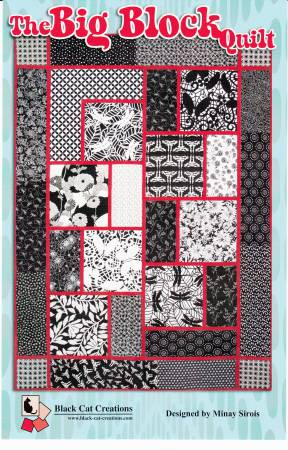 The Big Block Quilt  Pattern - Black Cat Creations