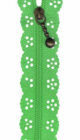 8in Little Lacie Zipper - Green Medium