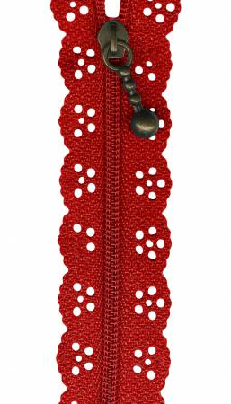 8in Little Lacie Zipper - Red