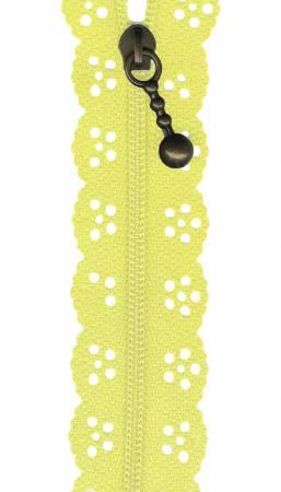 12in Little Lacie Zipper - Yellow Light