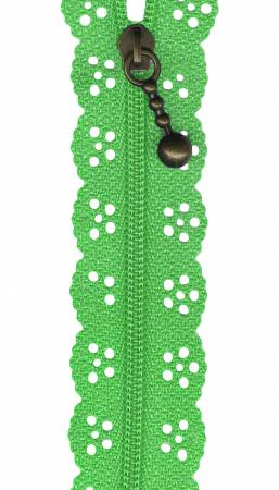 12in Little Lacie Zipper - Green Medium