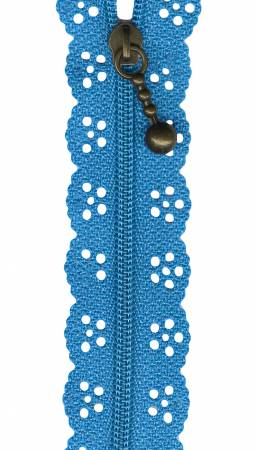 12in Little Lacie Zipper - Turquoise