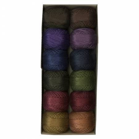 Valdani Pearl Cotton Ball Sz12 109yd 12 Colors Bigsby Designs Darks