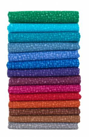Fat Quarter Bedrock Tonal Gem, 14pcs/pack