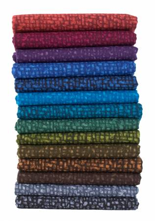 Fat Quarter Bedrock Tonal Nightfall, 14pcs/pack
