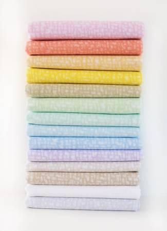Fat Quarter Bedrock Tonal Pastel, 14pcs/pack