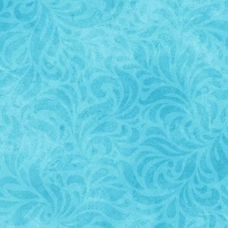 Bella Suede Floral Light Blue Wide Backing