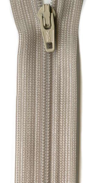 Polyester Coil Zipper 14in Smoke Grey