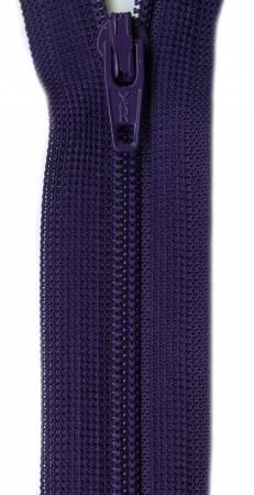 Beulon Polyester Coil Zipper 20in Purple