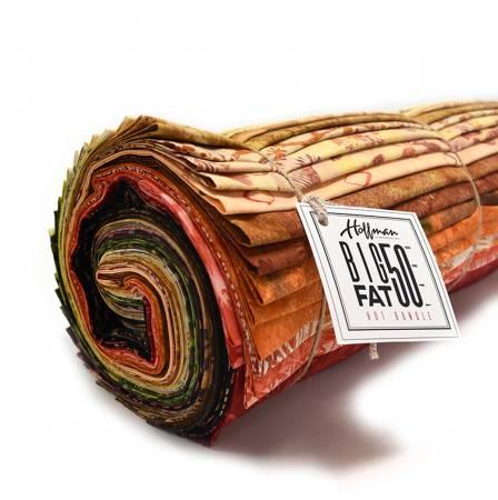 Flame Big Fat 50yd bundle, 50 unique 1yd cuts Batik