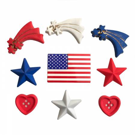 Stars and Stripes Theme Buttons