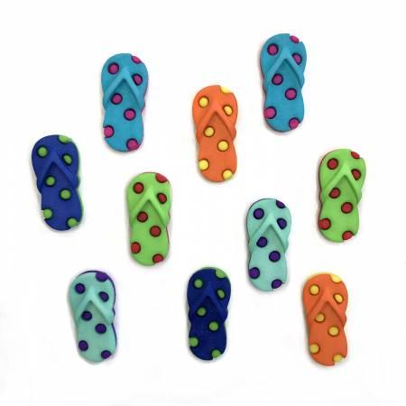Funky Flip Flops Theme Buttons