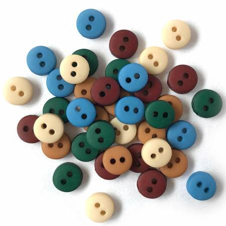 Buttons Galore Tiny Round Country 1/4in