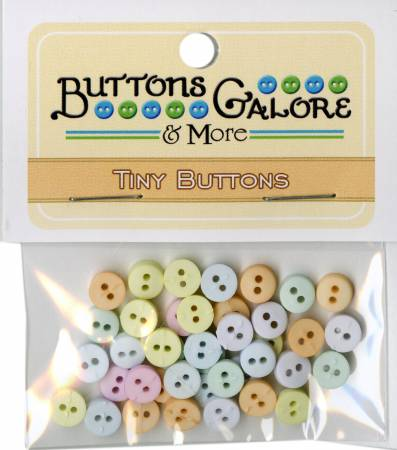 Tiny Round Buttons Pastel