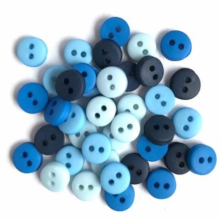 1/4 Button - Blues Mix