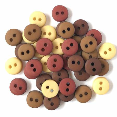 Tiny Round Buttons Natural