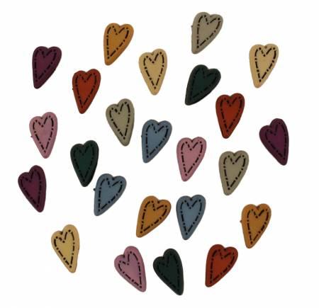 Button Bag Tiny Folk Heart
