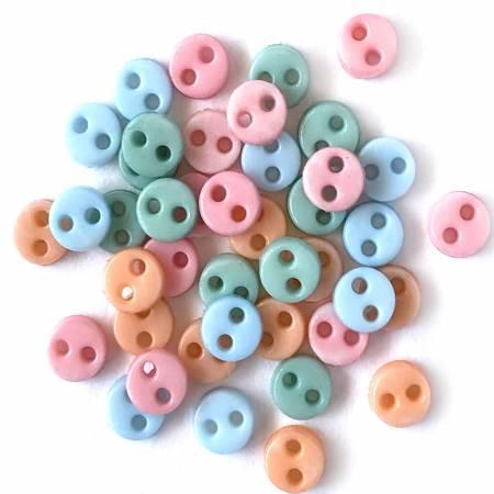 1/8 Button - Pastel Mix