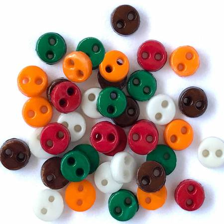 Buttons Micro Harvest Mix 1/8in