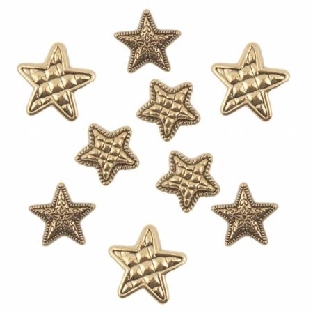 Gold Stars Buttons Button Bag