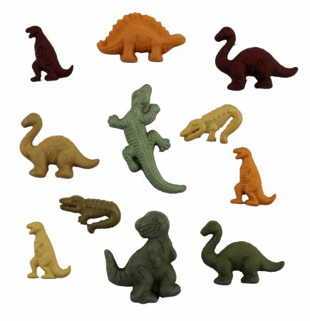 Childhood Dinosaurs Buttons Assorted Sizes