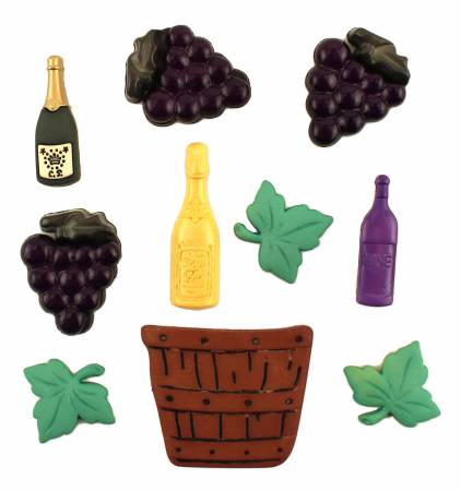 Wine Lover Button Bag - Assorted Sizes