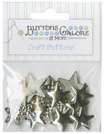 Silver Stars Button bag