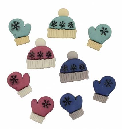 Winter Woolies Buttons (Pack 6)