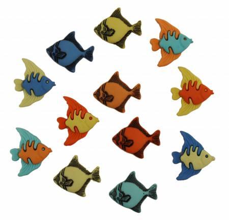 Tropical Fish Button Bag