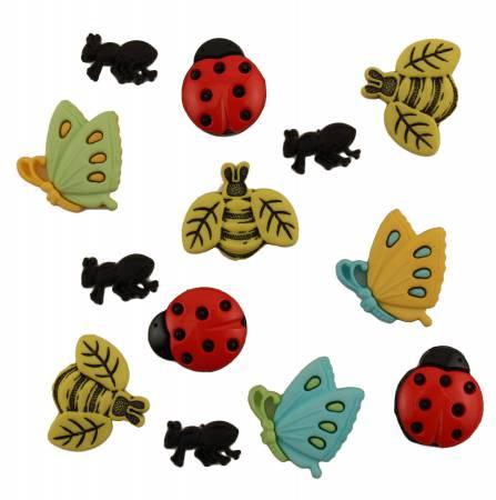 Garden Bugs Button Bag