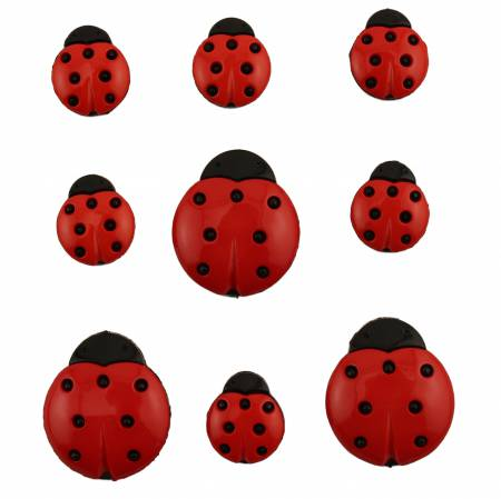 Ladybugs Button Bag