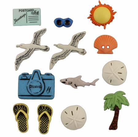 Seaside Button Bag