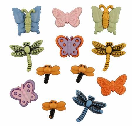 Flutterbugs Button Bag