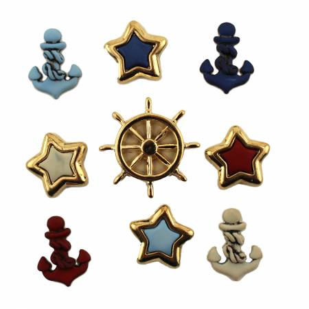Anchors Aweigh Button Bag