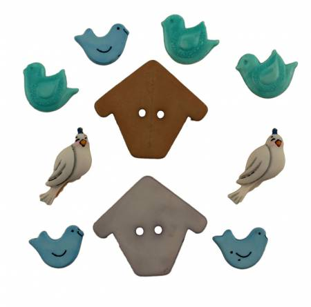 Birds of a Feather (Pack 6) Buttons - BG4446