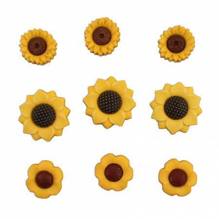 Mini Sunflowers-Autumn Collection - Buttons Galore - BG4624