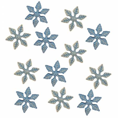 Winter Chill Snowflake Buttons