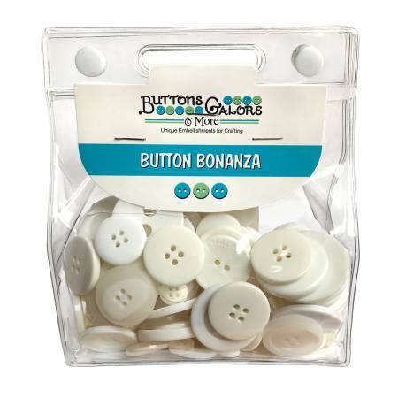 Button Grab Bag Bonanza White 250