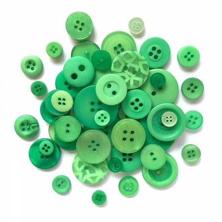 Button Candy Bag Kelly Green 5oz Assorted Sizes