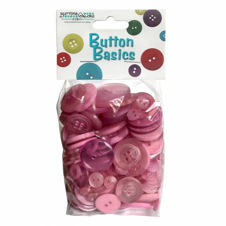 Button Candy Bag Blush 5oz Assorted Sizes