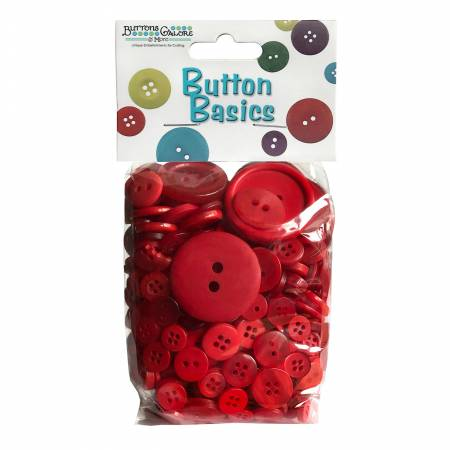 Button Candy Bag Red Hot 5oz Assorted Sizes
