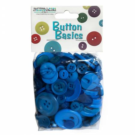 Button Candy Bag Blueberry 5oz Assorted Sizes