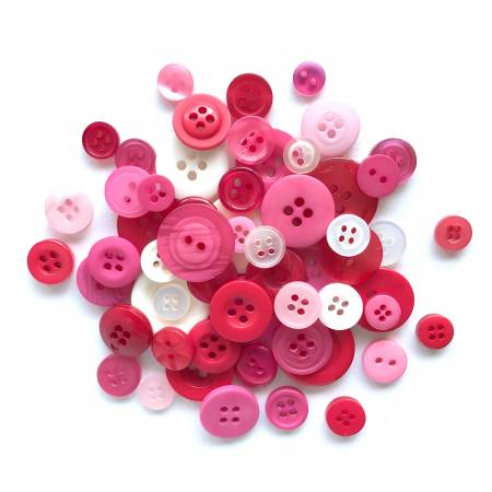 Sweetheart Button Assortment  5oz Assorted Sizes